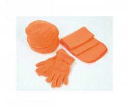 """""""Glen"""" souprava - čepice, šála, rukavice, 180 g, oranžová"""