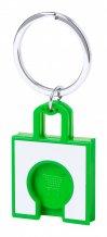 """""""Fliant"""" přívěšek na klíče se žetonem, zelená"""