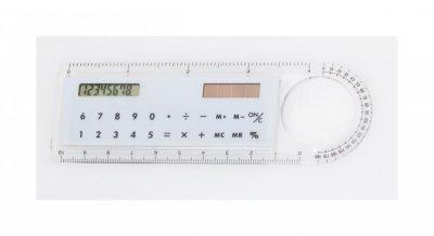 """Mensor"" pravítko s kalkulačkou, bílá"