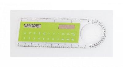 """""""Mensor"""" pravítko s kalkulačkou, zelená"""
