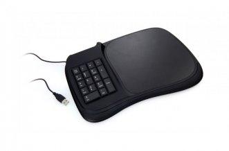 """""""Negu"""" podložka pod myš s klávesnicí, černá"""