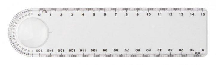 """""""Linear"""" pravítko, průhledná"""