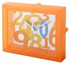 """""""Timestant"""" transparentní stolní hodiny, oranžová"""