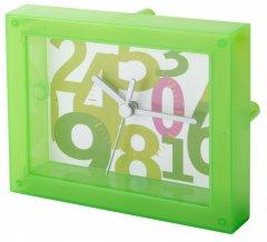 """""""Timestant"""" transparentní stolní hodiny, zelená"""