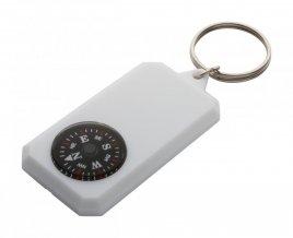 """""""Magellan"""" přívěšek na klíče s kompasem, bílá"""