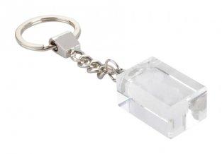 """""""Glass"""" přívěšek na klíče, průhledná"""