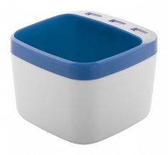 """Warger"" stojánek na pera s USB hubem, modrá"
