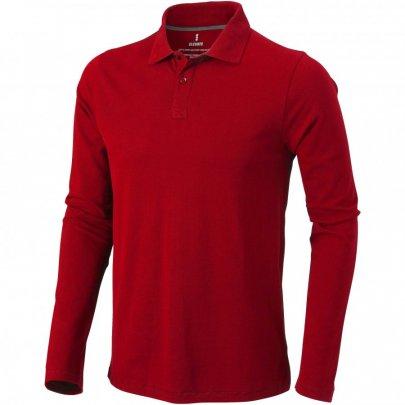 Pánská polokošile Oakville s dlouhým rukávem, červená