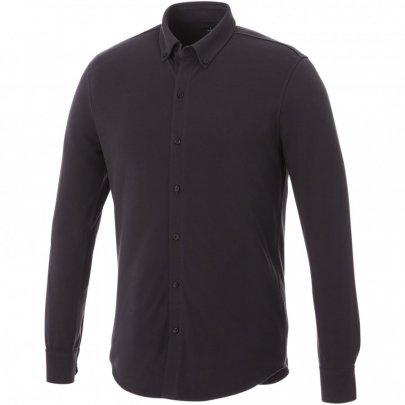 Pánská košile Bigelow s dlouhým rukávem, šedá