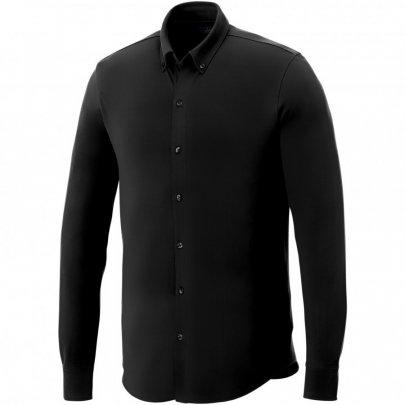Pánská košile Bigelow s dlouhým rukávem, černá
