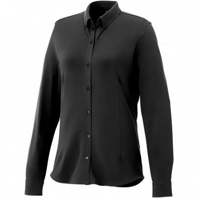 Dámská košile Bigelow s dlouhým rukávem, černá