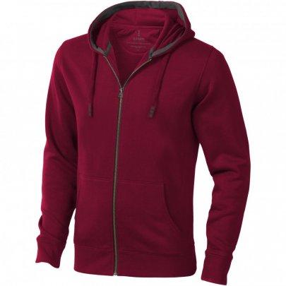 Mikina Arora s kapucí, zip v celé délce, červená