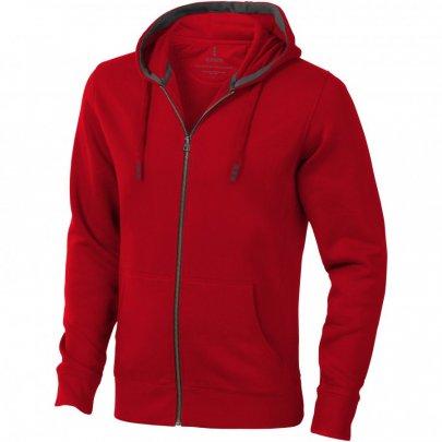 Ikina Arora s kapucí, zip v celé délce, červená