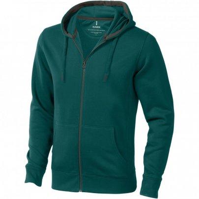 Ikina Arora s kapucí, zip v celé délce, zelená