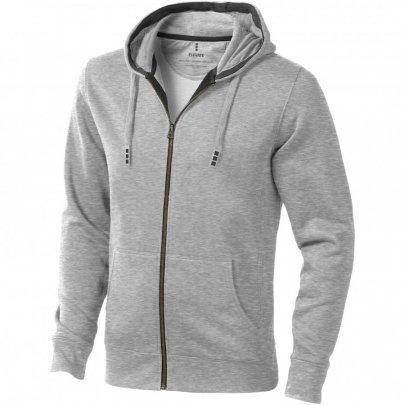 Ikina Arora s kapucí, zip v celé délce, šedá