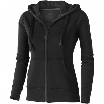 Dámská mikina Arora s kapucí, zip v celé délce, černá