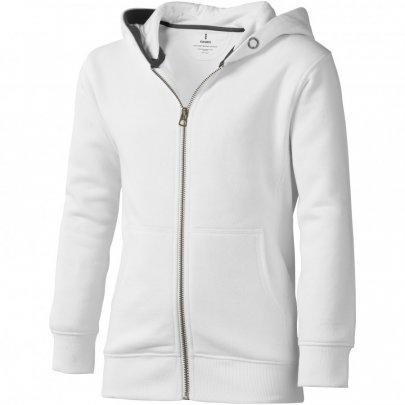 Arora celopropínací svetr na zip s kapucí pro děti, bílá