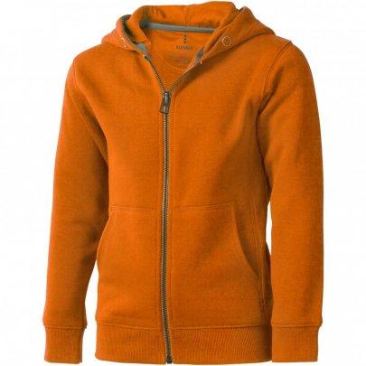 Arora celopropínací svetr na zip s kapucí pro děti, oranžová
