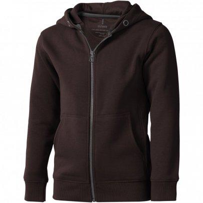 Arora celopropínací svetr na zip s kapucí pro děti, hnědá
