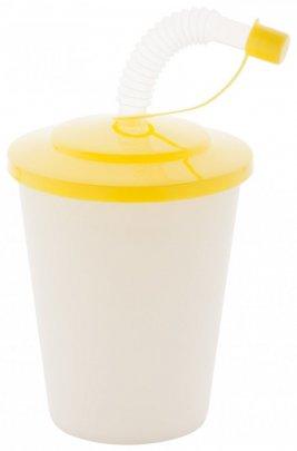 """""""Chico"""" uzavíratelný plastový pohárek, žlutá"""