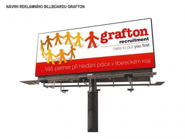 Návrh reklamního banneru Grafton