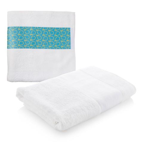 Subowel L ručník se sublimačním potiskem Bílá