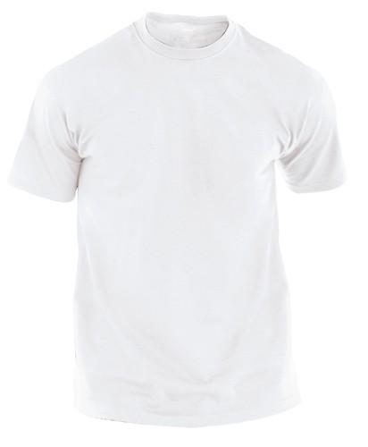 Hecom White bílé tričko pro dospělé Bílá