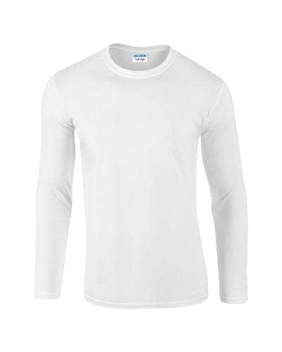Softstyle Long Sleeve tričko s dlouhým rukávem Bílá