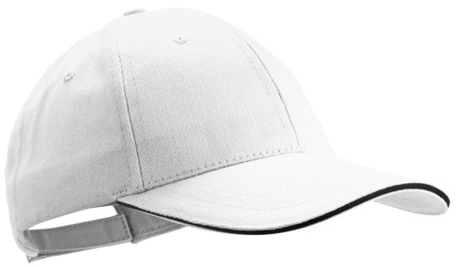 Rubec basebalová čepice Bílá
