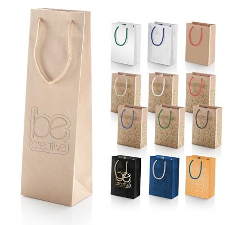 CreaShop W papírová taška na víno na zakázku