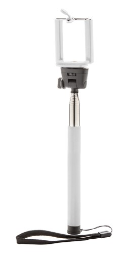 Self teleskopická tyč na selfie foto Bílá