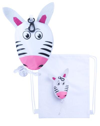 Kissa vak na stažení šňůrkou, zebra Bílá