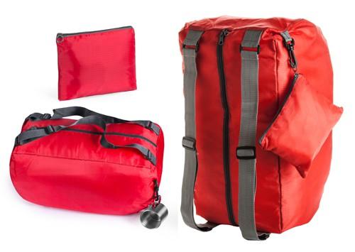 Ribuk skládací sportovní taška Červená
