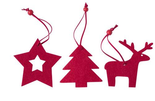Stuck sada vánočních ozdob Červená