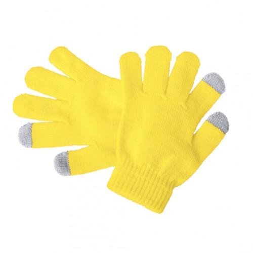 Pigun dotykové rukavice pro děti Žlutá