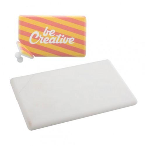 Card krabička s mentolovými bonbóny Bílá