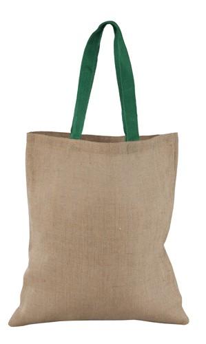 Dhar nákupní taška, materiál juta Zelená