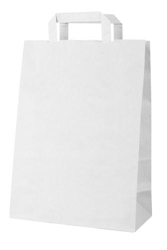 Market papírová taška Bílá
