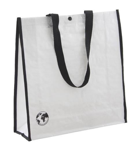 Recycle nákupní taška z recyklovaného materiálu Bílá