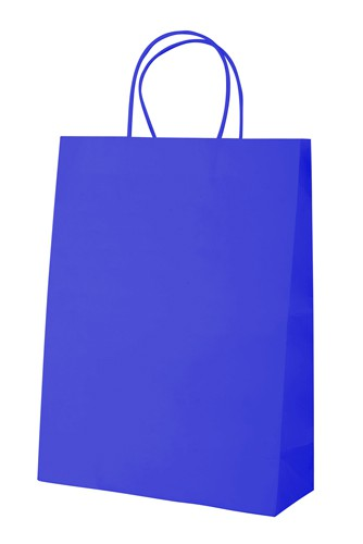 Mall papírová taška Modrá