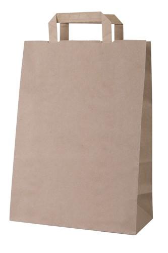 Market papírová taška Hnědá
