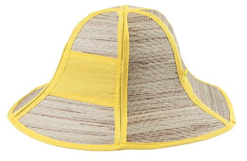 Caribbean plážový klobouk Žlutá
