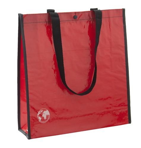 Recycle nákupní taška z recyklovaného materiálu Červená