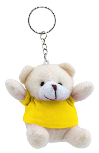 Teddy přívěšek na klíče Žlutá