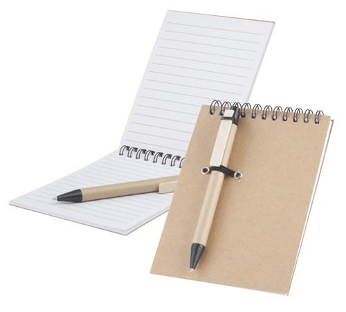 Concern poznáznámkový blok s kuličkovým perem z recyklovaného papíru