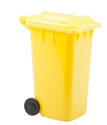 Dustbin stojan na psací potřeby Žlutá