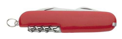 Toledo mini multifunkční nůž, 8 funkcí Červená