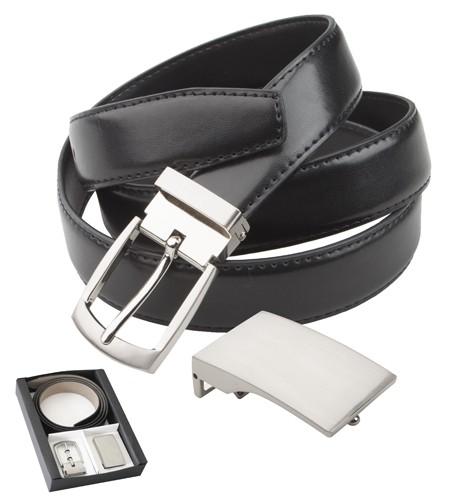 Twice kožený pásek Černá