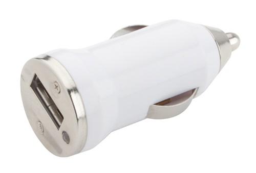 Hikal USB nabíječka do auta Bílá