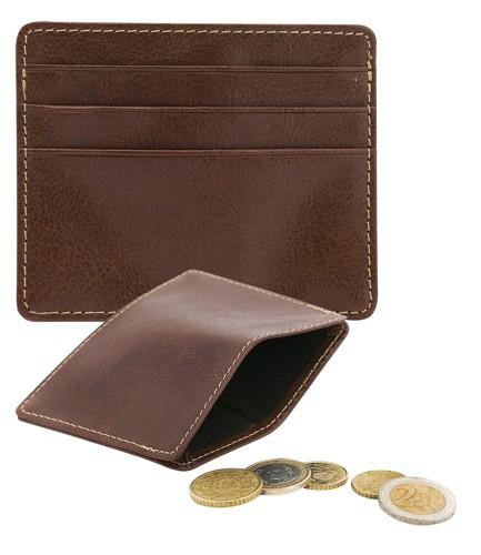 Lex peněženka s pouzdrem na 3 kreditní karty Hnědá